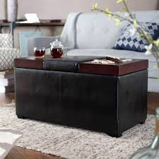 large leather coffee table ottomans oversized leather
