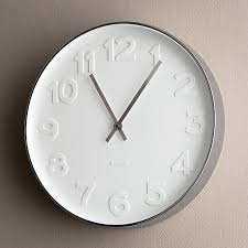 crate and barrel embossed numbers 15 clock