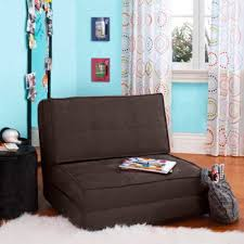 Amazon.com: Your Zone - Flip Chair Convertible Sleeper Dorm Bed Couch  Lounger Sofa Multi Color New (Brown): Kitchen & Dining