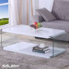 glass living room furniture. Coffee Table High Gloss LED Side MDF White Living Room Furniture Set 1200 Mm Glass