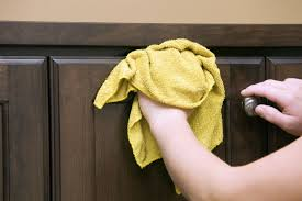 Cabinet Magic Cleaner Removing Greasy Grime On Kitchen Cabinets