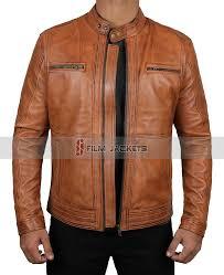 mens brown distressed jacket leather distressed