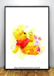 winnie the pooh wall art the pooh print watercolor the pooh wall art the pooh nursery
