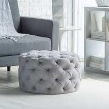 Ottoman In Living Room Belham Living Allover Tufted Round Ottoman Grey An All Around
