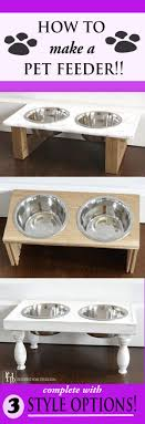 DIY Pet Feeder- 3 Different Style Options