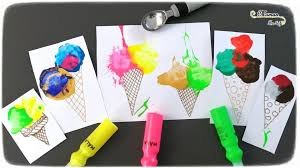 Vanille, fraise ou chocolat ? Glaces Peinture Et Marteau Activite Maman Sur Le Fil