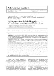 (PDF) An Estimation of the Biological Properties of <b>Fish Collagen in</b> ...