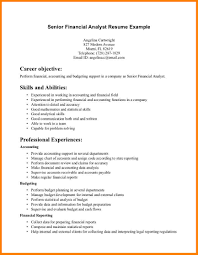 Career Objective For Finance Resume Proyectoportal Com