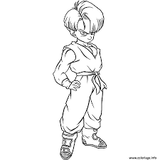 Coloriage Trunks Dragon Ball Z 92 Dessin