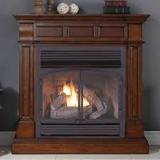 duluth forge remote control fireplace with dual fuel options