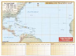 Hurricane Tracking Chart Hurricane Tracking Chart Wall Map