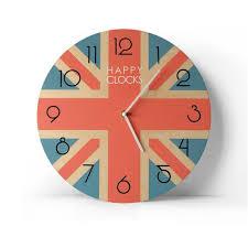 british uk flag wall clock london home