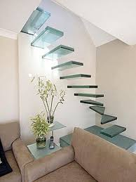 Classy glass stairs...a mini heart attack with each and every step.