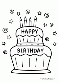 Small Picture Happy Birthday Coloring Pages Ppinewsco