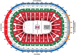 Montreal Canadiens Bell Center Seating Chart Centre Bell Seating Chart