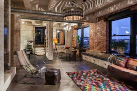 Neoteric Ideas Industrial Home Design Colorful Eclectic Located In Portland  USA On.