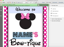 Hot Pink Minnie Mouse Party Signs Printable Studio