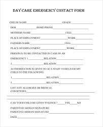 employer emergency contact form template 8 sample emergency contact forms pdf doc