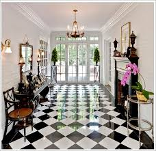 Black And White Flooring Always Makes For A Grand Entrance! This Showplace  Is Courtesy Of