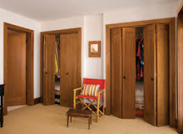 Although used extensively in tract homes, bifolds can also be constructed  of quality hardwoods and trimmed to match the swinging doors in the house.