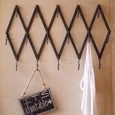 Metal Accordion Coat Rack Clothing Hooks amazing expandable wall rack Wood Accordion Wall 15