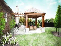 patio design backyard covered patios