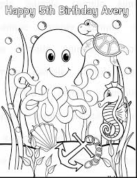 Small Picture Realistic Ocean Animals Coloring Pages For Preschool Inside Beach
