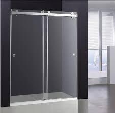 unique sliding shower doors in double glass door broadway vanities