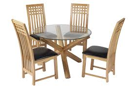 Round Solid Oak Dining Table Starrkingschool - Solid wood dining room tables and chairs