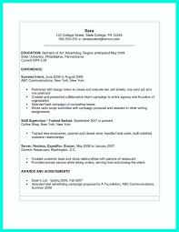 College Resume Template Microsoft Word 8166 Densatilorg