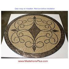 iron works ii 36 polished mosaic floor medallion
