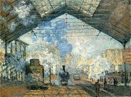 a beginner s guide to impressionism article khan academy claude monet la gare saint lazare 1877 oil on canvas 75 x 104 cm musatildecopye d orsay paris