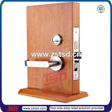 Door Lock Display Stand Tsdw100 Door Handle Display RackRotating Wooden Display Stand 2