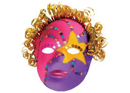 Plastic Masks To Decorate Masks Craft Collage Art Craft 29