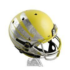 Marcus Mariota 2014 Heisman Autographed Oregon Chrome F S Helmet Bas White Ink B