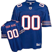 s-3xl Blue Jersey Bills Personalized Authentic Nfl