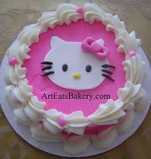 Pink And White Butter Cream Girls Hello Kitty Unique Custom