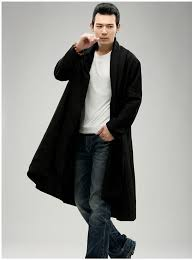 spring autumn mens trench coat black long jacket for male long coat windbreaker tranchee manteau hommes