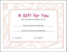 Gift Voucher Template Pdf Blank Certificates