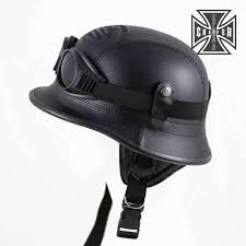 Helmets Eagle Novelty Flat Black <b>Motorcycle Half Helmet</b> Cruiser ...