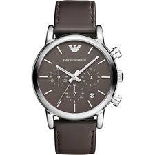 next mens watch new emporio armani classic mens watch brown dial strap ar1734 next day