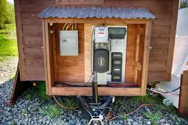 tiny house solar system. Simple Tiny On The Right Side Of House You Can See Battery Box With Tiny House Solar System