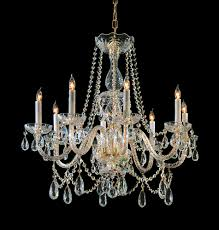 crystorama traditional crystal 8 light crystal brass chandelier ii