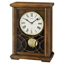 seiko dawson walnut wooden case chiming mantel clock qxw236blh