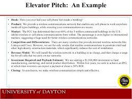 Elevator Pitch Examples Alisen Berde