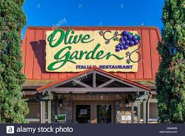 olive garden restaurant exterior kissimmee florida usa stock image