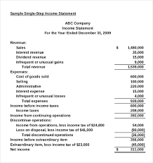 excel income statement income statement templates 23 free word excel pdf documents