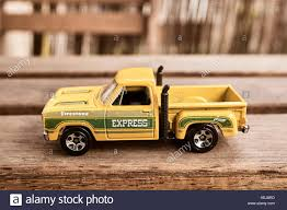 Mattel Hot Wheels yellow toy 78 Dodge pick up truck on a wooden ...