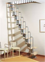 Stairs, Prefab Stairs Mdf Staircase Kits Super Narrow Stair With Light Wood  Tread And Grey