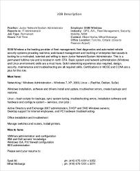 network administrator job description resume